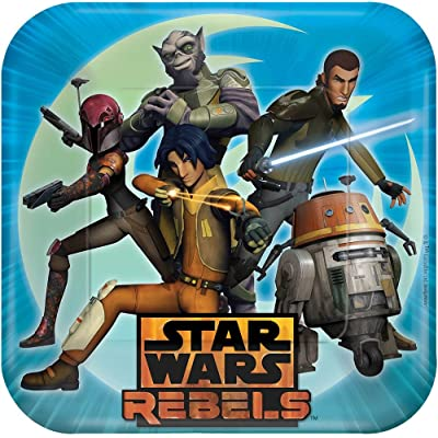 Star Wars Rebels Dinner Plates 8 Count: Toys & Games