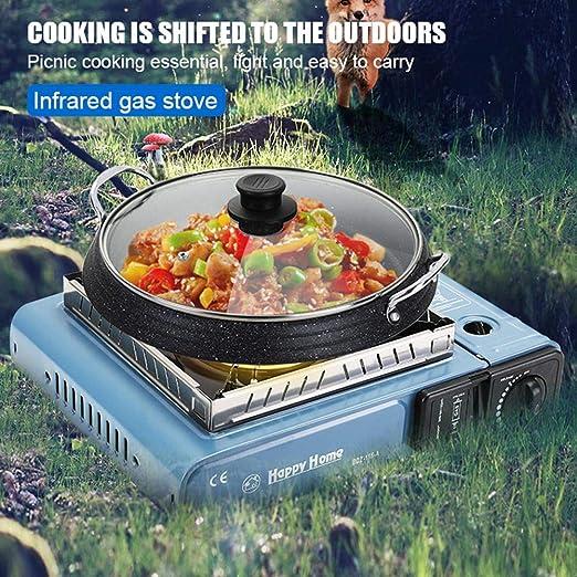 Ardentity Camping Gas Recaud 1 fuego, hornillo de camping con ...