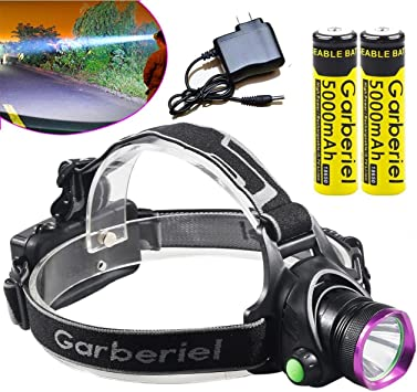 2 charger New 3  mode XM-L T6 Led Headlight Zoomable Headlamp 2000lm  Head Lamp