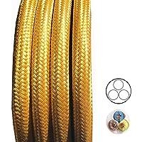 Cable de tela dorado, longitud a elegir, cable
