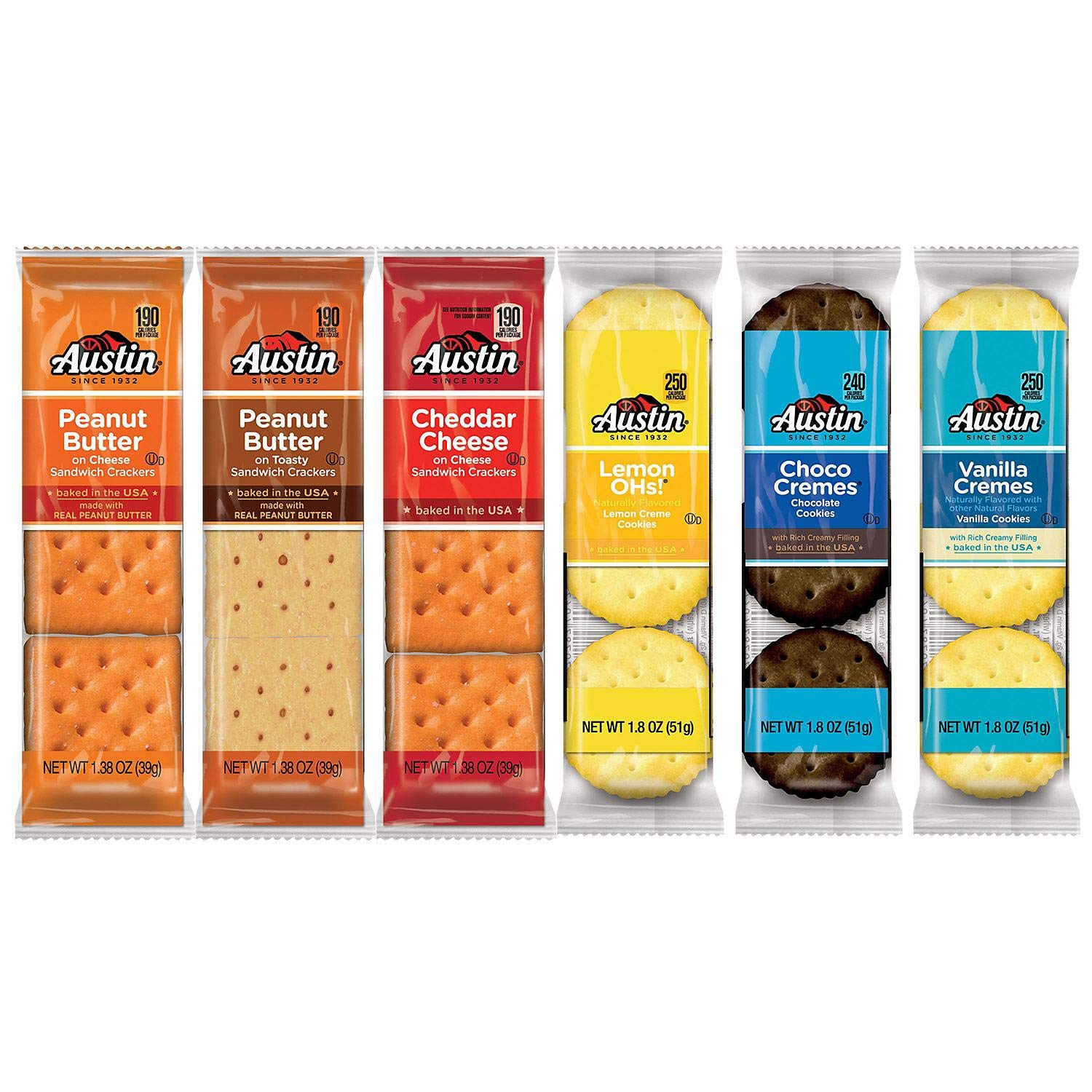 Austin 827544 Cookies and Crackers, Assorted, 1.38