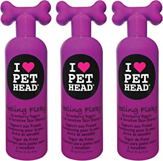 product image for Pet Head 3 Pack of Feeling Flaky Dog Shampoo, 16.1 Ounces Each, Strawberry Yogurt, for Dry and Sensitive Skin