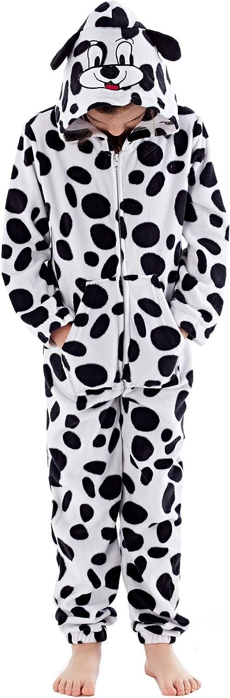 Hari Deals Girls Novelty Animal Print Fleece Onesie All in One Pyjamas Jumpsuits