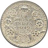 1/4 Rupee Silver 1942 brtish India Coin