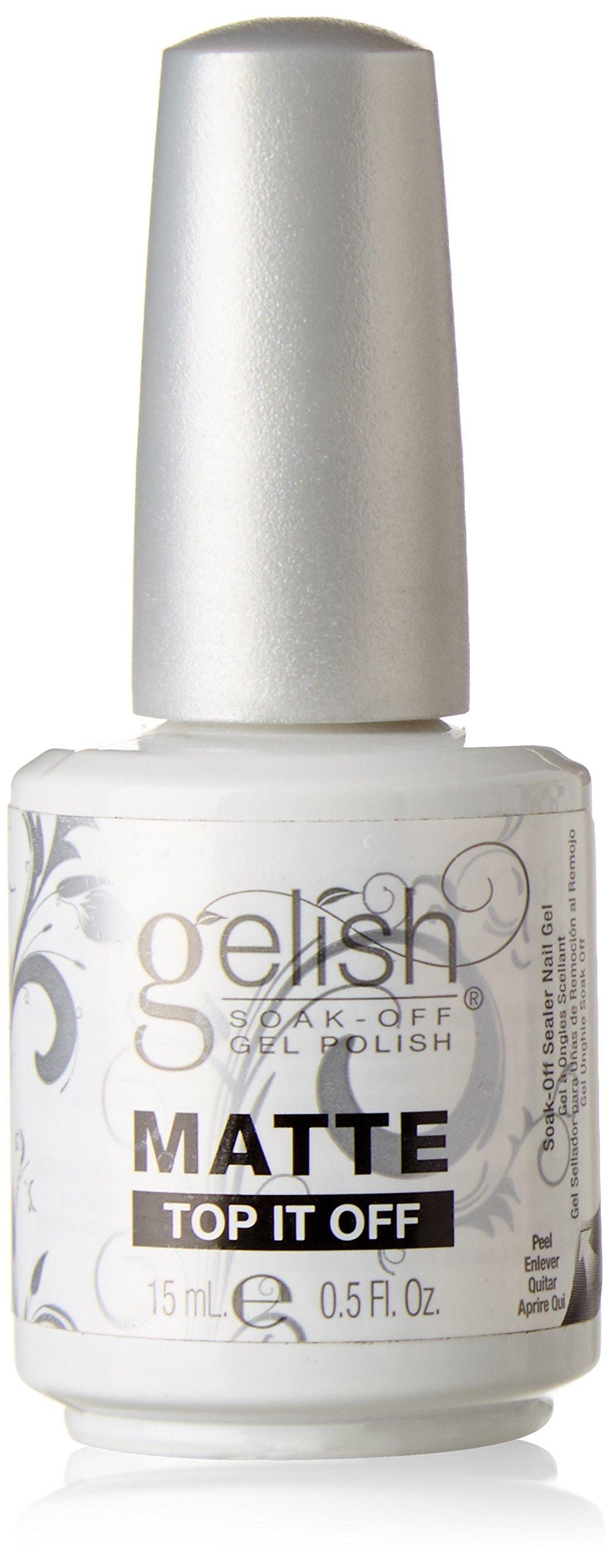Gelish Soak Matte Top It Off Sealer Gel Nail Polish, 0.5 Ounce
