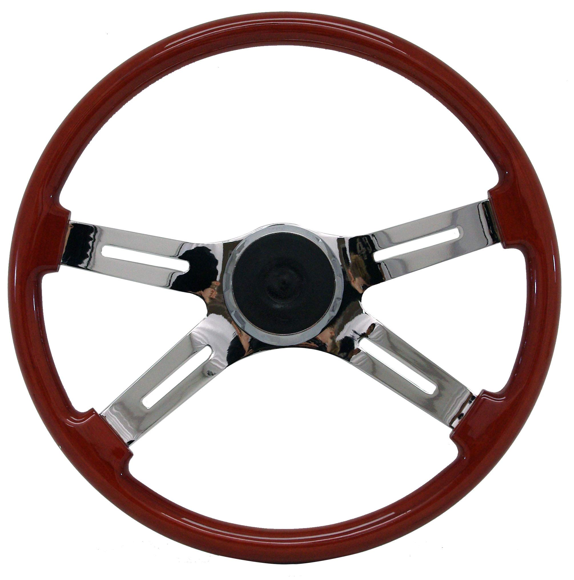 Woody's WP-SWKW Rosewood Chrome Truck Steering Wheel (Beautiful African Hardwood) by Woody's