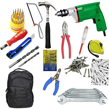 ADITYA INFO Steel Must In Your Home 211 Pieces GBT Power Tools Set (Multicolour)