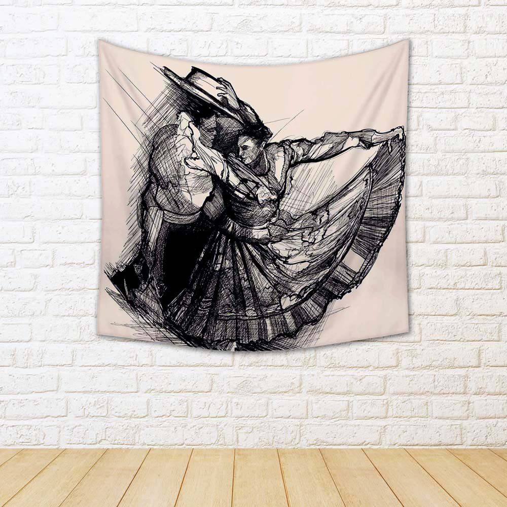 ArtzFolio Latino Dance Canvas Tapestry Wall Hanging 30 x 30inch