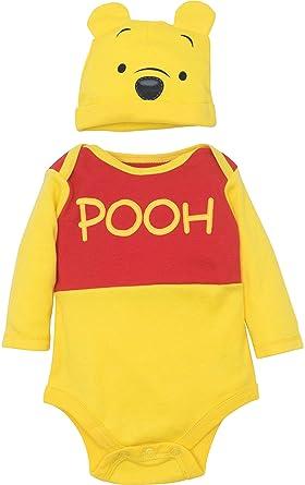 004b71011 Disney Winnie The Pooh Baby Boys' Costume Bodysuit and Hat Set, Yellow (0