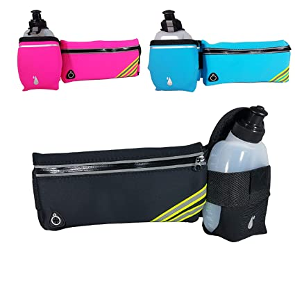 Official Website New Running Bag Hydration Belt Women Men Sport Running Waist Bag Waterproof Jogging Gym Waist Pack With Water Bottle Relojes Y Joyas