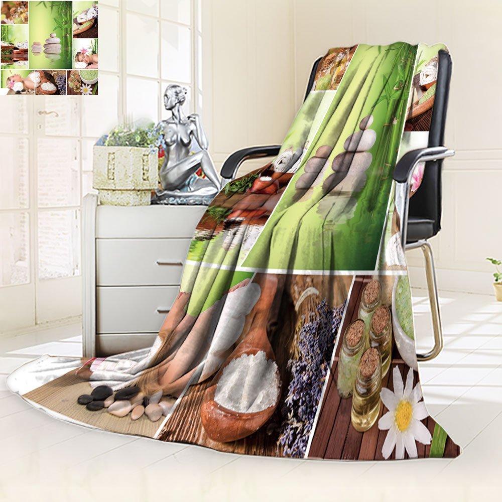 Nalahomeqq Microfiber All Season Blanket/Flannel Fleece Blanket/Luxury Blanket/Heavy Warm Blanket-Wrinkle and Fade Resistant Hypoallergenic Fleece Blanket-75 x 95''(Spa stil life collection)