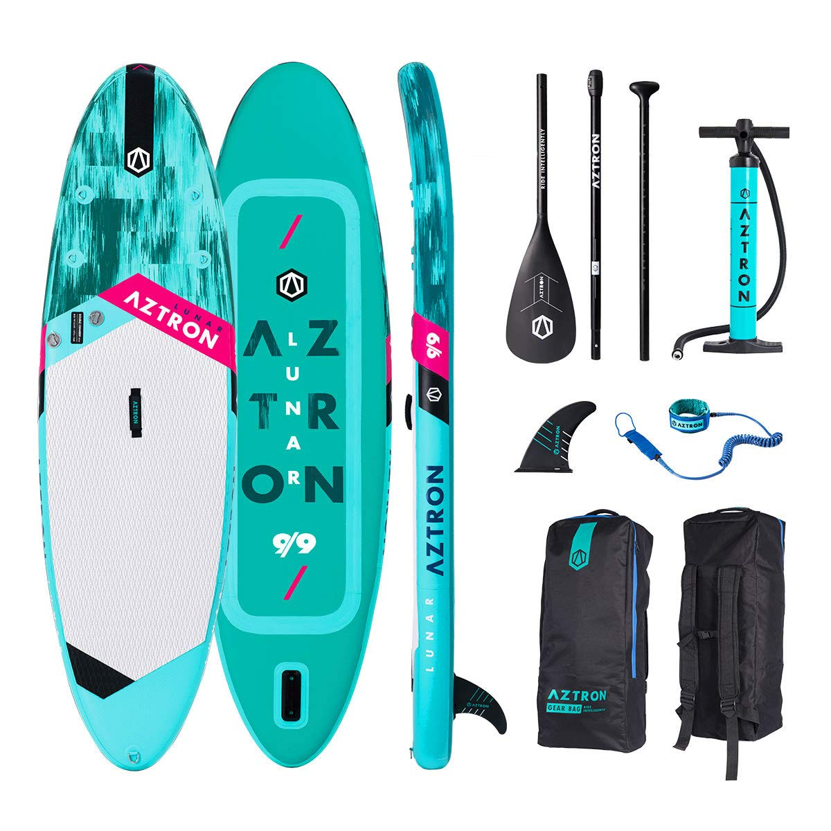 Aztron Lunar 9.9 Inflatable Sup Stand Up Paddle Board Set ...