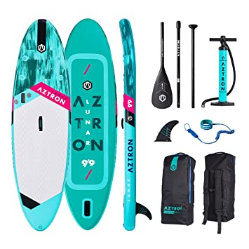 AZTRON Lunar 9.9 Inflatable Sup Stand Up Paddle Board Set Oferta, Board+Style ALU Paddel+Leash: Amazon.es: Deportes y aire libre