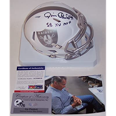 Jim Plunkett Autographed Hand Signed Raiders ICE Speed Mini Helmet - PSA DNA 1b3d5db1b