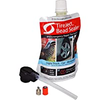 TireJect On-Road Automotive Tire Sealant Single Tire Repair Kit for Bead Leaks and Punctures (Compact Car, Mid-Size Sedan, Motorcycle)