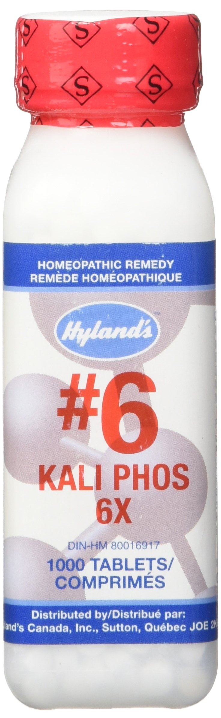 Hyland's Cell Salts #6 Kali Phosphoricum 6X Tablets, Natural Relief of Stress, Simple Nervous Tension, Headaches, 1000 Count by Hyland's Homeopathic