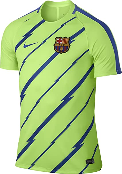 85fb4bd37 Amazon.com   Nike Dry FC Barcelona Top  Ghost Green    Sports   Outdoors