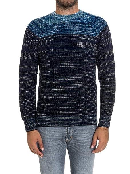 negozio online a4ade 95ea0 Missoni Maglione Uomo 5373002440 Cashmere Blu: Amazon.it ...