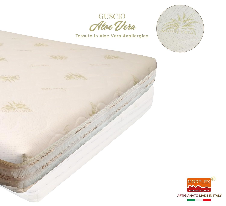 morflex - Caparazón Funda intercambiable para colchón fuera tamaño todo 205 x 170 x 20 - Revestimiento extraíble acolchado con cremallera - Tela Aloe Vera ...