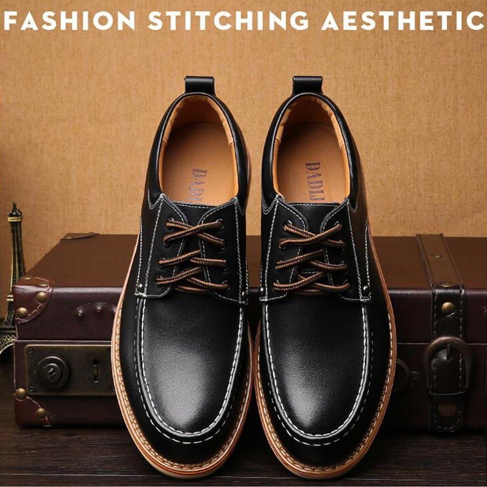 L.Z.H Mens PU Leather Business Oxfords Lace Up Work Casual Shoes Driving Shoes Color : Black, Size : 6.5 MUS