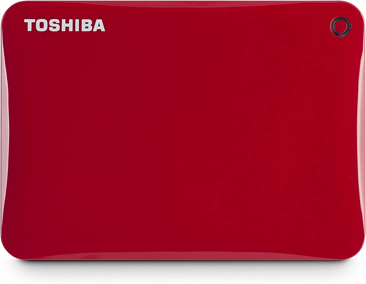 Toshiba Canvio Connect II 1TB Portable Hard Drive, Red (HDTC810XR3A1)