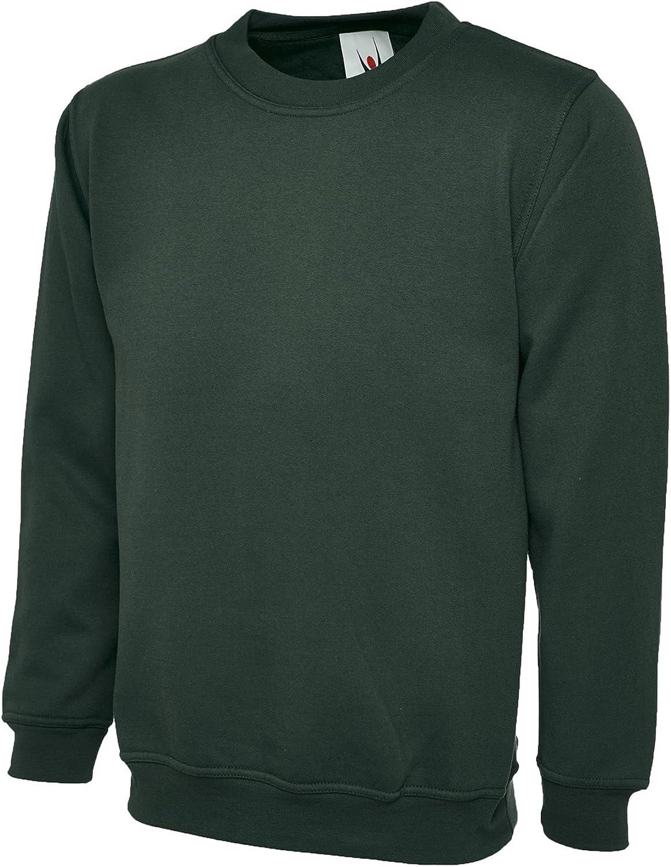 Uneek 300g Plain Classic Crewneck Sweatshirt