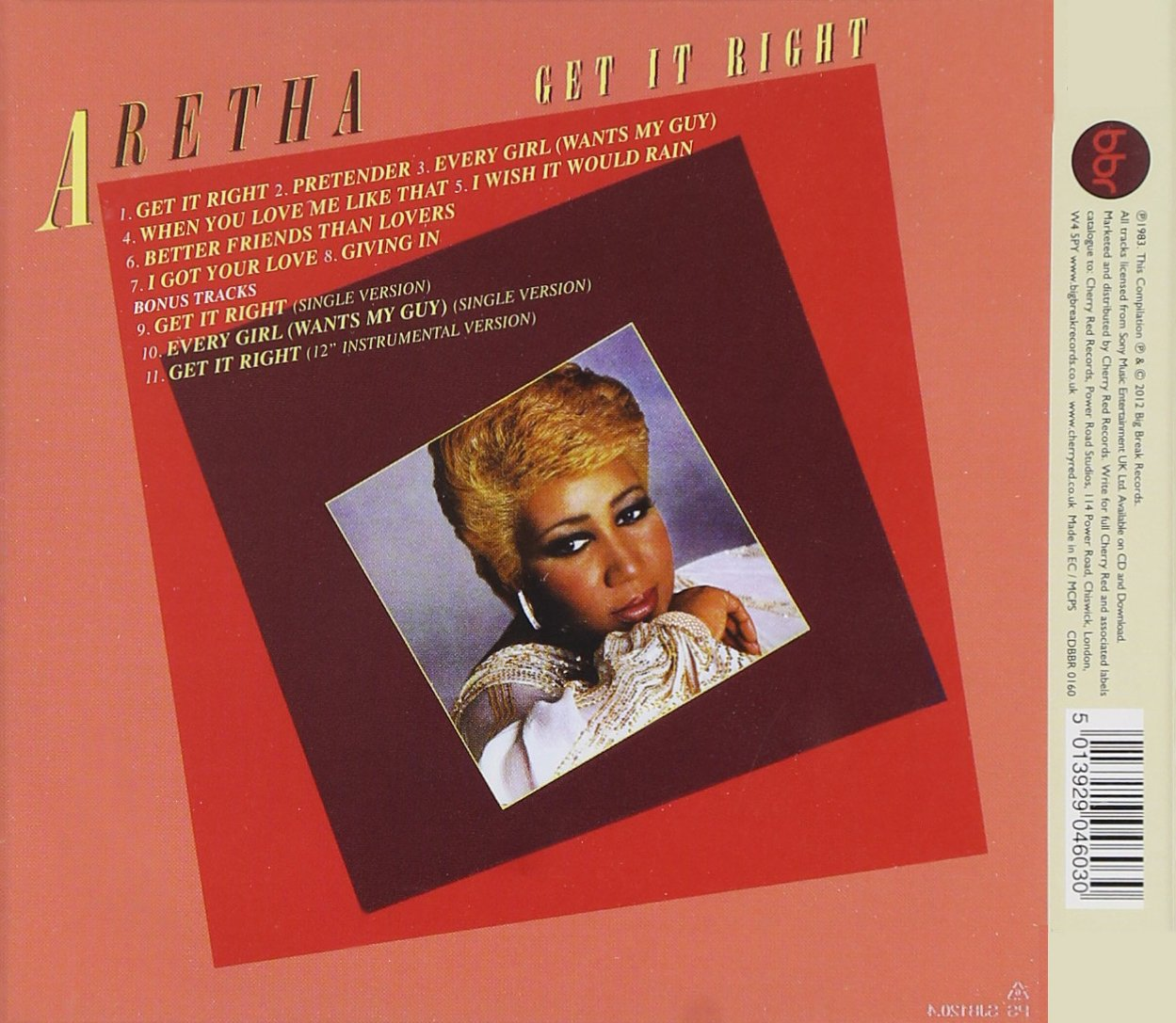 Get It Right ~ Expanded Edition /  Aretha Franklin by BBR