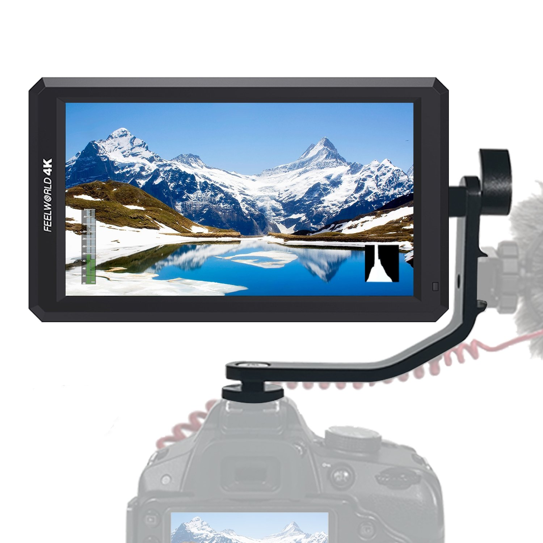 Feelworld F6 5.7インチIPSモニタ 1920x1080フィールドモニター 4K HDMI信号入力 DC 8V電源出力をサポート オーディオメーター DSLR デジタルカメラ用 撮影モニター チルトアーム付属【正規品&一年間保証&日本語設定可能】 B07D27YQZX F6 F6