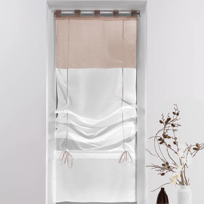 Negozio all'interno del diritto pura dolcezza (45 cm) bianco bicolore vela e melanzane DOUCEUR D' INTERIEUR 1621351