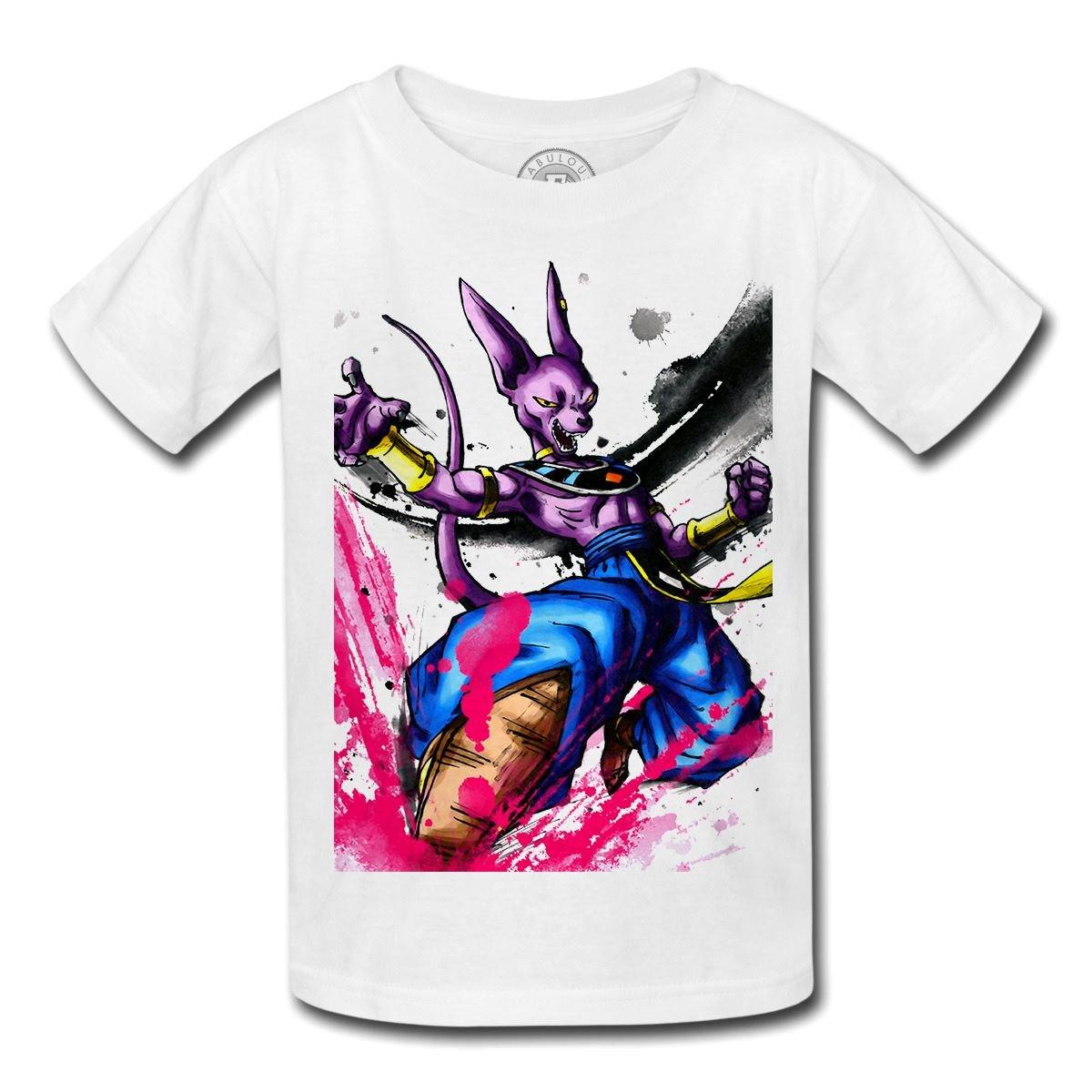 Fabulous T-Shirt enfant Beerus Dieu de la Destruction Dragon Ball Super DBZ Manga