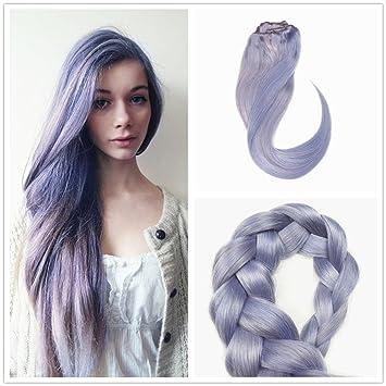 Amazon Com Stella Reina Pastel Lavender Purple Clip In Hair