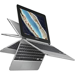 "2018 Newest Premium High Performance Asus 10.1"" Touchscreen Flip 2-in-1 Chromebook Rockchip RK3399 Processor 4GB RAM 16GB eMMC Hard Drive 802.11AC WIFI HDMI Webcam Bluetooth Chrome OS-Silver"