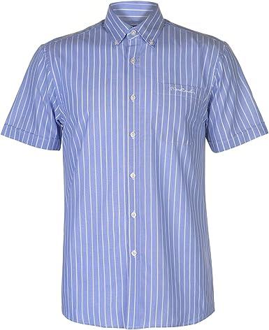 Pierre Cardin - Camisa de manga corta para hombre azul / blanco XL: Amazon.es: Ropa y accesorios
