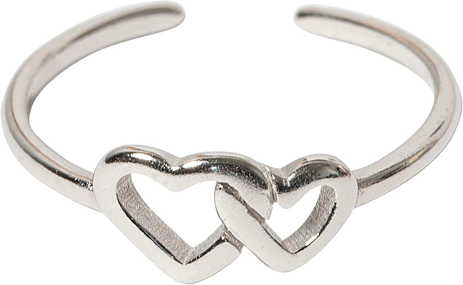 USA Seller Big Heart Toe Ring Sterling Silver 925 Plain Best Price Jewelry Gift