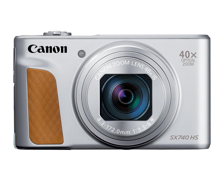best sneakers 11da8 b86df Amazon.com   Canon PowerShot SX740 Digital Camera w 40x Optical Zoom   3  Inch Tilt LCD - 4K VIdeo, Wi-Fi, NFC, Bluetooth Enabled (Silver)   Camera    Photo