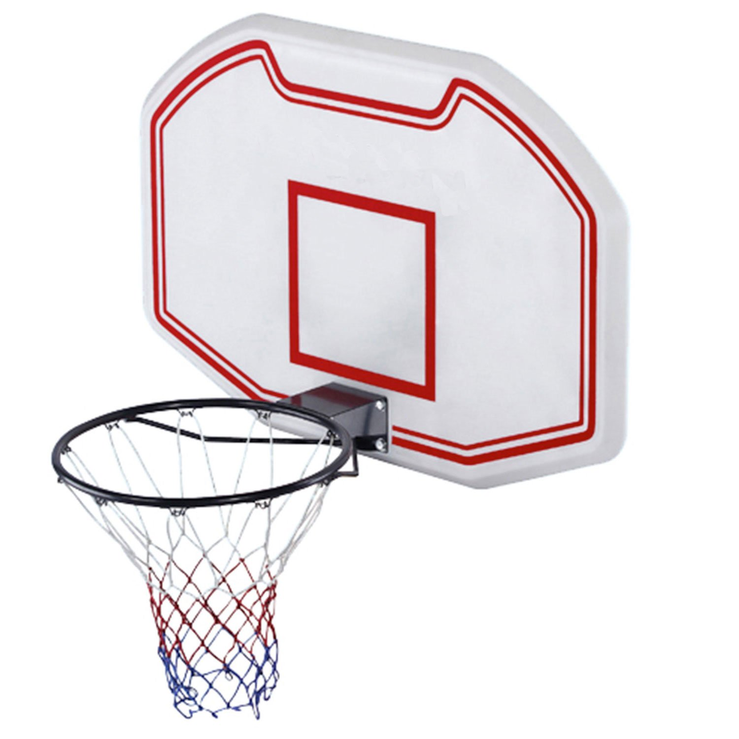 Heavy Duty Wandmontierte Indoor Outdoor Basketball Rückwand Hoop Netz Set