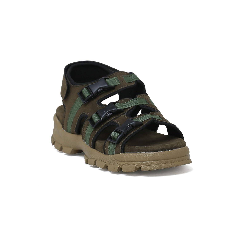 Buy voonik Men's Olive Green Sandals-9