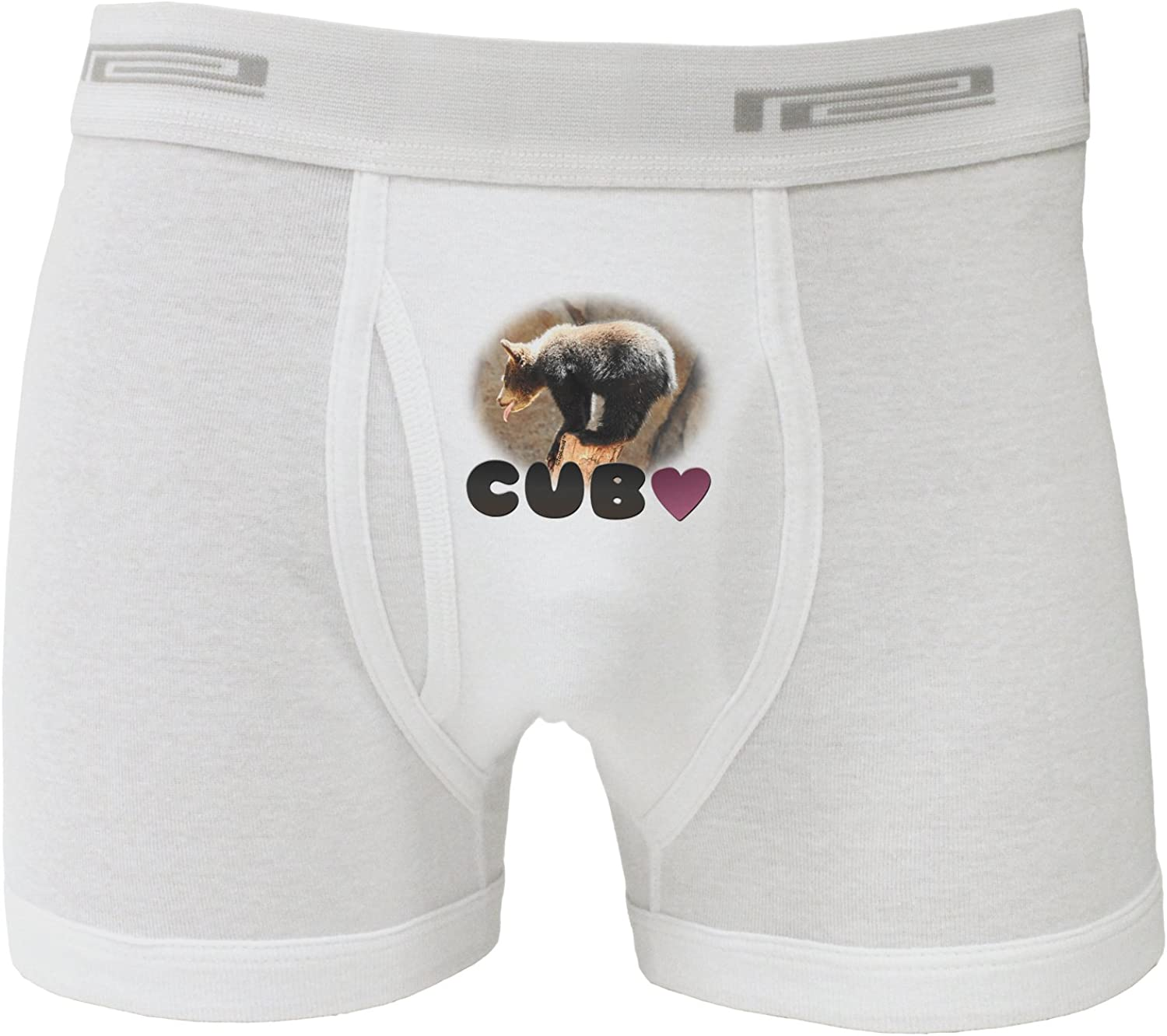 TooLoud Balancing Bear Cub with Text Boxer Briefs