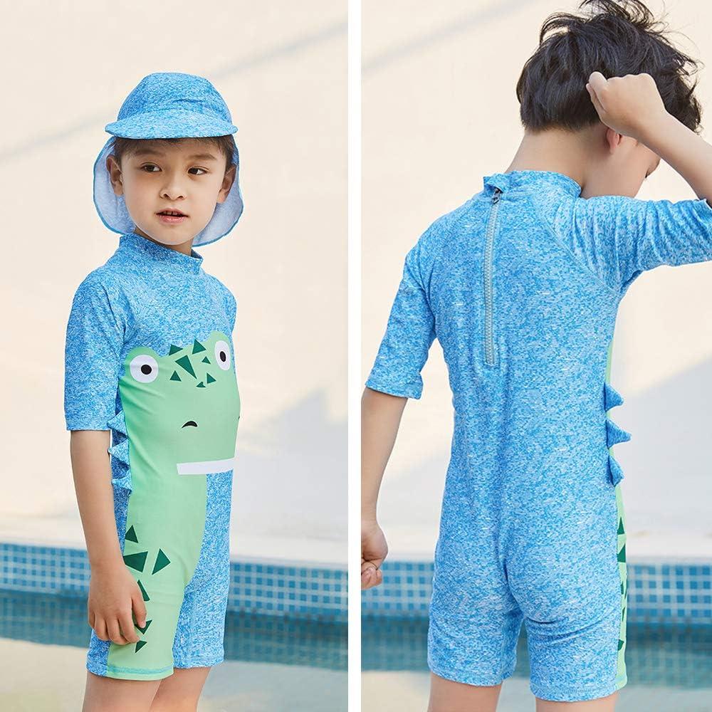 Baby Toddler Girl Unicorn Swimsuit Short Sleeve Bathing Suit-One Piece Swimwear Infant Toddler Sunsuits for Baby Girls