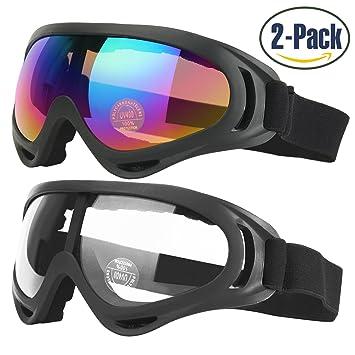 2er Packung Herren Damen Polarisiert Sport Sonnenbrille Ski & Snowboard H9wu1