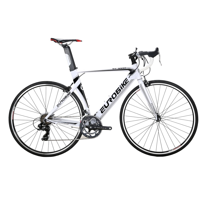 KINGTTU ロードバイク XC7000 アルミニウム合金 自転車 700C 軽量 フレーム高さ54cm 変速14速 破れた風の車輪 レトロリム 碟刹自転車 B07BF7T12V 白 白