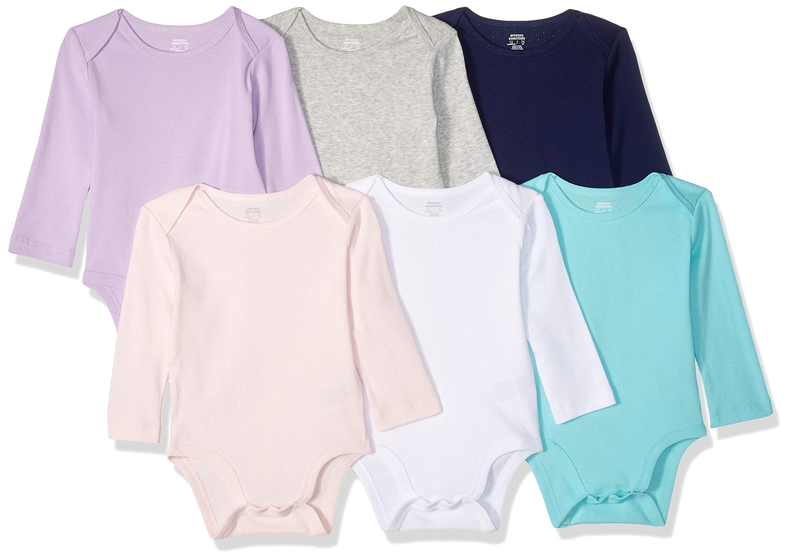 Amazon Essentials Baby Long-Sleeve Bodysuits
