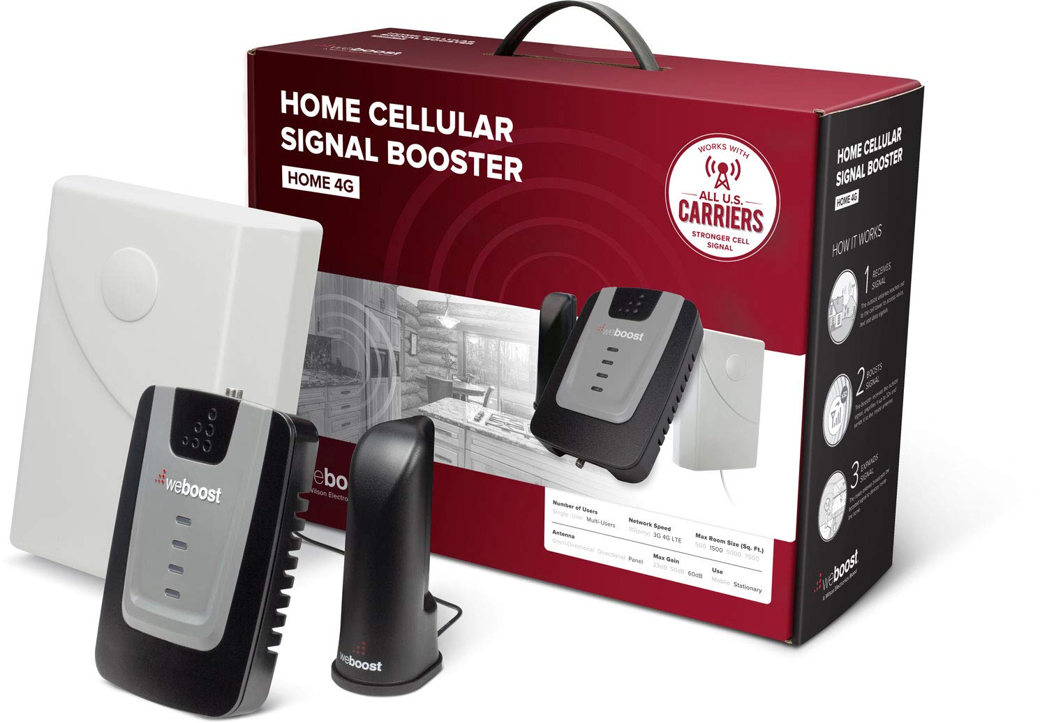 a95a066c95b weBoost Home 4G Cell Phone Signal Booster for Home and Office – Enhance Your  Signal up