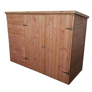 Caseta bicicleta Box - 205 x 87 x 151 cm (Alto) - con bochemit impregnación - Aquí tiene su espacio todo perfecto: Amazon.es: Jardín