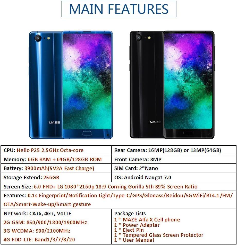 MAZE Alpha X Teléfono móvil de Pantalla Completa 6GB RAM 64GB 6 ...