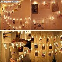Juhefa Photo Clip String Battery Powered 40 LEDs Lights