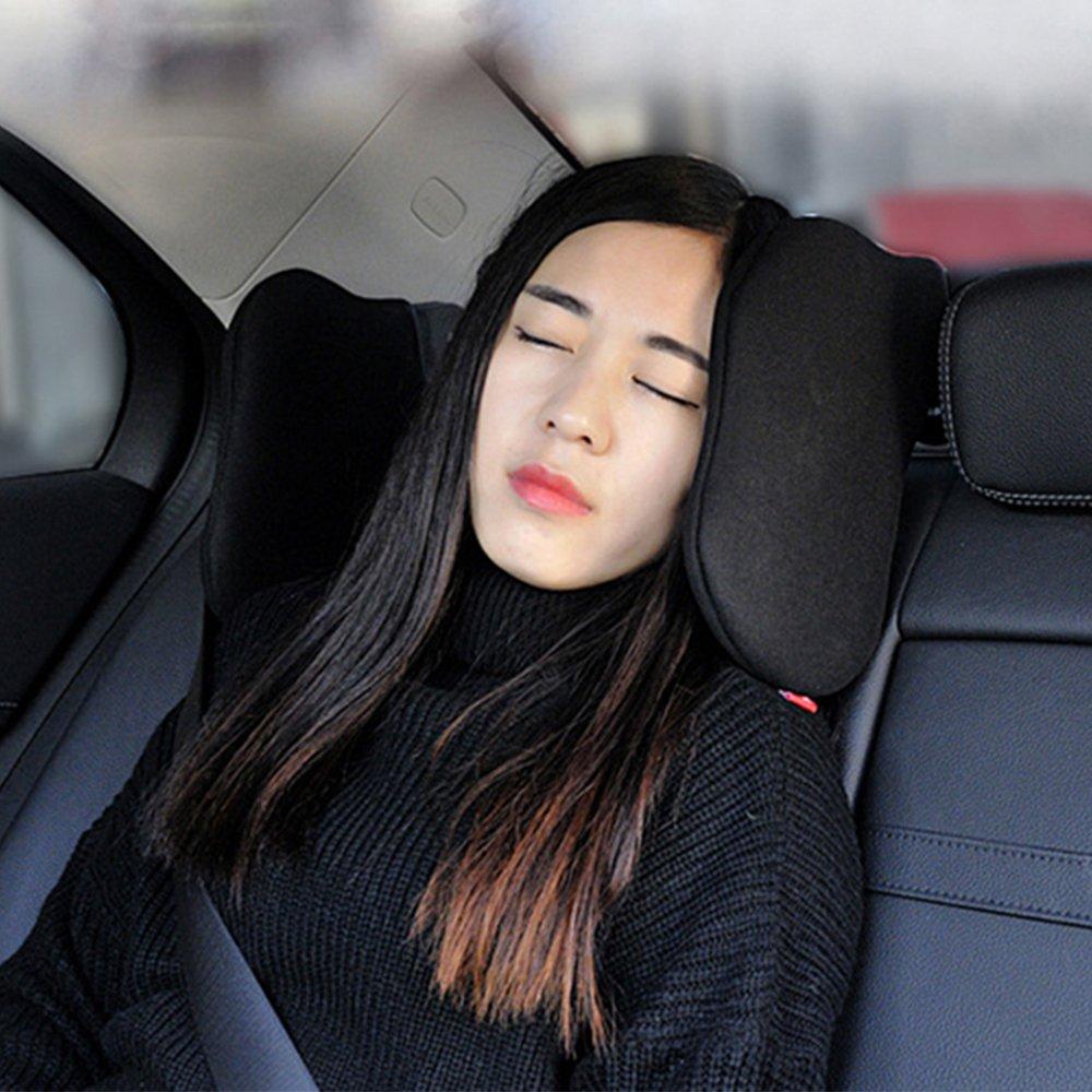 Auto Kopfst/ütze Kissen verstellbare Auto Kopfst/ütze Seite St/ützkopf Nackenkissen Restkissen Kissen Auto Autositz Kopfst/ütze Memory-Schaum weich zum Schlafen