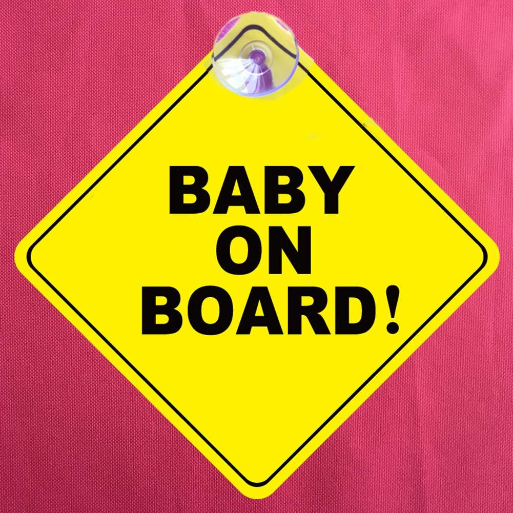 VelvxKl Veicolo Finestra Car Wall Sticker Stickers Baby On Board Attenzione Segno Sicurezza Decoration Yellow Black