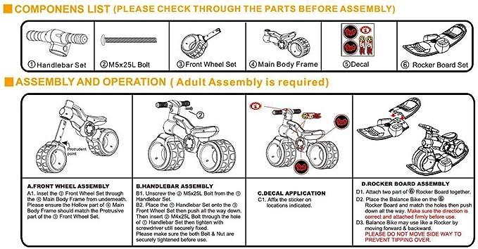 migotoys TCV-V100R 2 en 1 Bicicleta de Equilibrio y Tabla de balanceo para bebé, Rosa, Fabricada en Taiwán: Amazon.es: Deportes y aire libre