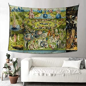 MOONSOON The Garden of Earthly Delights by Hieronymus Bosch Boutique Tapestry Wall Hanging Tapestry Vintage Tapestry Wall Tapestry Micro Fiber Peach Home Decor 90x60inch